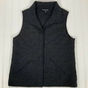 Eileen Fisher Quilted Vest Size XS Charcoal Gray